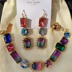 Kate Spade Ombré Multicolored Bracelet Earrings